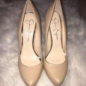 Jessica Simpson Cream Colored Heels